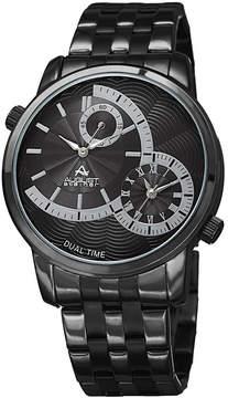August Steiner Mens Black Strap Watch-As-8210bk