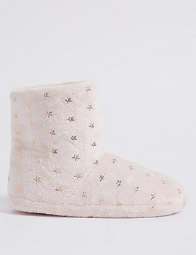 Marks and Spencer Star Printed Slipper Boots