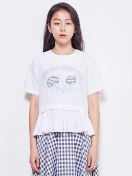 Blank Flower Top-Wh