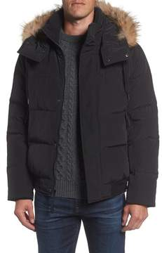 Andrew Marc Men's Insulated Jacket With Genuine Coyote Fur
