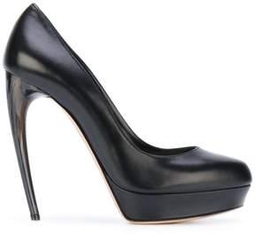 Alexander McQueen horn heel pumps
