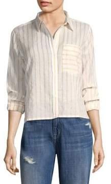 Current/Elliott Cotton Button-Front Shirt
