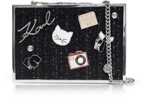 Karl Lagerfeld K/Pins Tweed Clutch