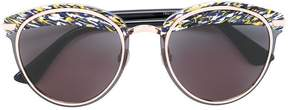 Christian Dior printed brim sunglasses