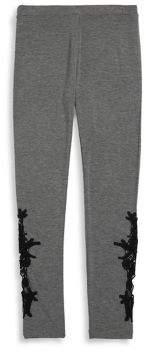 Design History Girl's Embellished Leggings