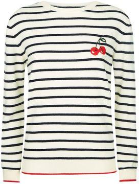 Chinti and Parker Cherry Breton Stripe Sweater