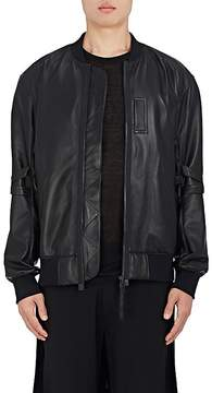 Helmut Lang Men's Bondage-Inspired Leather Bomber Jacket