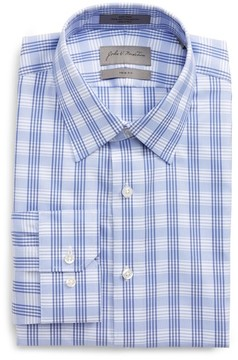 John W. Nordstrom Men's Trim Fit No-Iron Check Dress Shirt