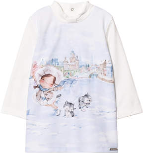 Mayoral Off-white Girl Print Dress