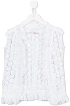 Dondup Kids crochet gilet