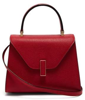 Valextra Iside Mini Grained Leather Bag - Womens - Red