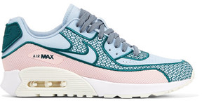Nike Air Max 90 Ultra 2.0 Si Embroidered Canvas And Mesh Sneakers - Blue