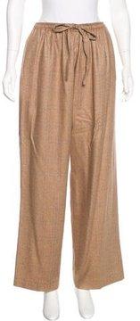 eskandar Cashmere-Blend High-Rise Pants