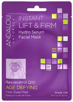 Andalou Naturals Instant Lift & Firm Hydro Serum Facial Mask Resveratrol Q10, Single Use