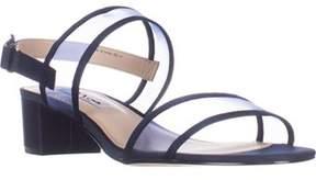 Nina Ganice Low-heel Dress Sandals, New Navy Luster.