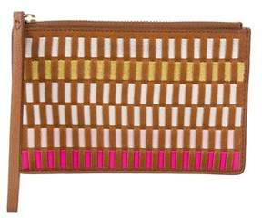 Fossil Woven Leather Wristlet