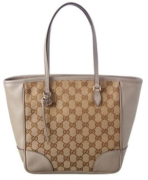 Gucci Gg Supreme Canvas & Leather Tote. - BEIGE MULTI - STYLE