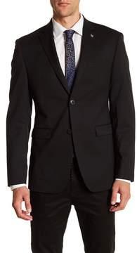 Original Penguin Black Woven Two Button Notch Lapel Suit Separate Jacket