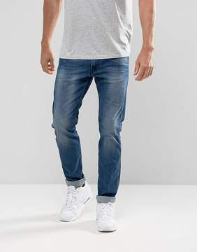 Replay Anbass Stretch Slim Jean Mid Wash