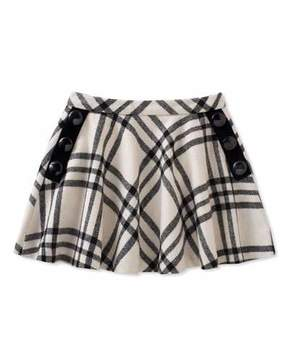 Kate Spade Girls' Plaid Shirt W/ Buttons, Size 7-14