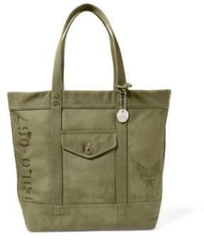 Ralph Lauren Military Canvas Tote Olive One Size