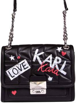 Karl Lagerfeld Mini Graffiti Shoulder Bag X Kaia