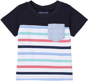 Andy & Evan Multicoloured Stripe T-shirt with Pocket
