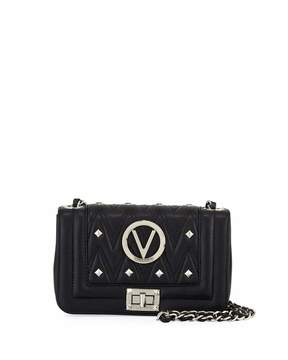 Mario Valentino Valentino By Beatriz Studs Quilted Sauvage Leather Shoulder Bag - Silvertone Hardware