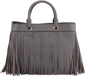 Milly Essex Fringe Leather Tote Bag