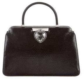 Judith Leiber Embossed Handle Bag