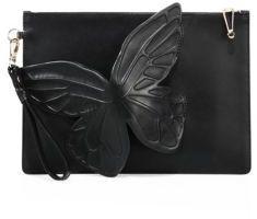 Sophia Webster Flossy 3D Butterfly Leather Clutch