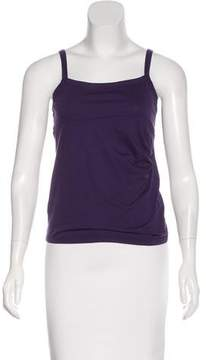 Armani Collezioni Gathered-Accented Sleeveless Top