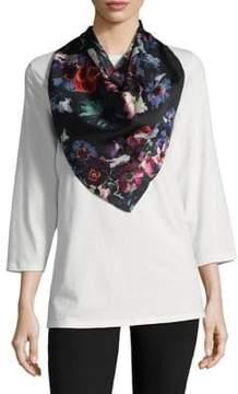 Echo Grid Floral Silk Bandana