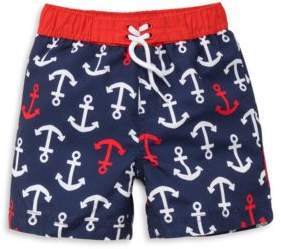 Little Me Baby Boy's Anchor Graphic Swim Shorts