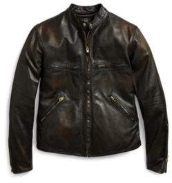 Ralph Lauren Slim Fit Leather Jacket Black S