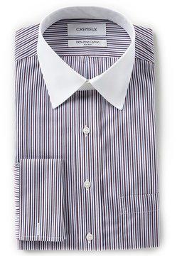 Daniel Cremieux Non-Iron Classic-Fit Point Collar Striped Dress Shirt
