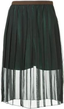 Kolor sheer pleated skirt