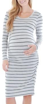 Everly Grey Women's 'Hanh' Maternity T-Shirt Dress