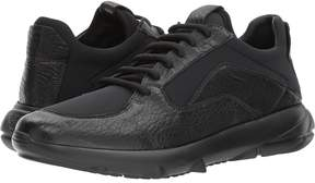 Emporio Armani Textured Leather/Neoprene Sneaker Men's Shoes