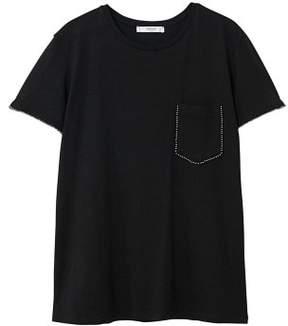 MANGO Studded t-shirt