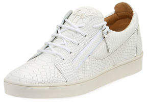 Giuseppe Zanotti Men's Croc-Embossed Leather Low-Top Sneaker