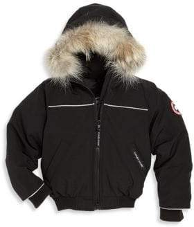 Canada Goose Toddler's & Little Kid's Grizzly Fur-Trim Down Bomber Jacket