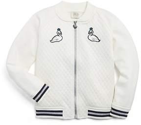 Armani Junior Girls' Swan Bomber Jacket - Little Kid, Big Kid