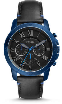Fossil Grant Sport Chronograph Black Leather Watch