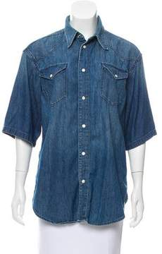 BLK DNM Chambray Button-Up Top