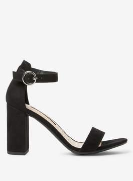 Dorothy Perkins Black Shimmy Block Heel Sandals