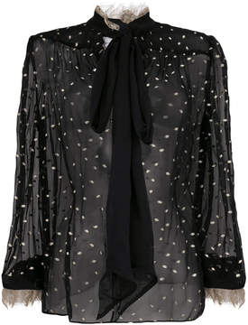 Rodarte pussy--bow sheer blouse