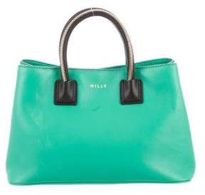 Milly Smooth Leather Satchel