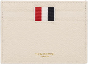 Thom Browne White Horizontal Stripes Single Card Holder