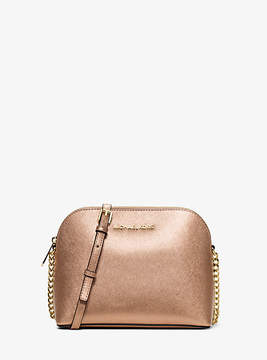 Michael Kors Jet Set Large Metallic Leather Crossbody - GOLD - STYLE